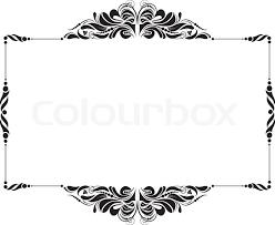 black vintage frame design. Decorative Frame For Design In Vintage Styled No Title, Vector Black I