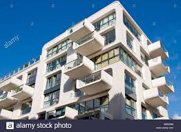 Modern Apartment Building In Hafencity Hamburg Stock Photo