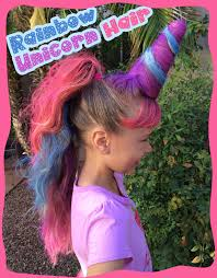 crazy hair day favorite rainbow unicorn hair we used a diy crazy leggings easy crazy hat ideas