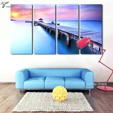 modern art for home decor contemporary art home decor modern wall art printed bridge canvas painting decorative sunset seascape pictures for modern art deco  on decorative contemporary wall art with modern art for home decor contemporary art home decor modern wall