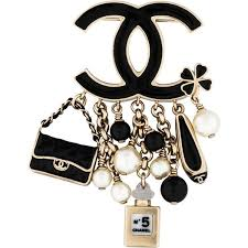 chanel pin. pre-owned chanel cc charm brooch (640 cad) ❤ liked on polyvore featuring pin o