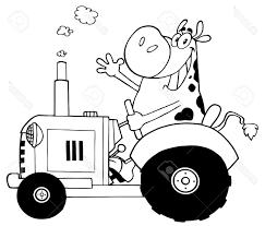 Coloriage Tracteur Et Vache 1001 Animaux