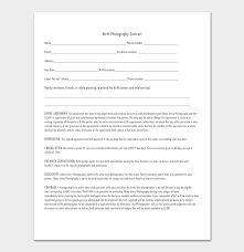Photography Contracts Photography Contract Template 40 Free In Word Pdf