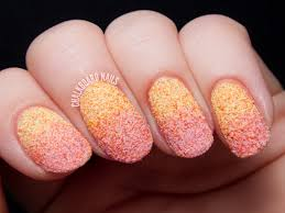 Peachy Textured Gradient - Nicole by OPI Roughles Nail Art ...