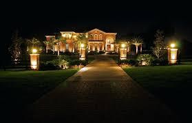 outdoor lighting backyard. Enchanted Backyard Out Of Doors Lighting Lights Panorama Outdoor