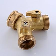 garden hose splitter. KES-BRASS-3-Way-Diverter-Valve-34-Garden- Garden Hose Splitter T