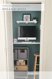 turn closet into office. Contemporary Closet Turn Your Small Closet Into A Mini Office  My Sweet Lilac To Into