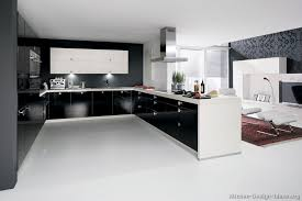 kitchen cabinets modern two tone black white peninsula steel hood favorite different styles of kitchens ideas perfect modern white and black kitchen e27 kitchen