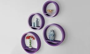 Purple Floating Shelves Mesmerizing Set Of Round Floating Shelves Goods On Stunning Diy Floating Shelves