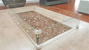 fire pit glass wind guards round 23 inch