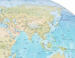 asia physical map Map Of Asia Atlas map physical asia map of asia to label