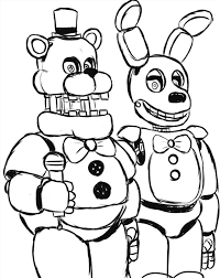 Coloring Pages Fnaf Coloring Pages Bonnie Awesome Funtime Foxy Of