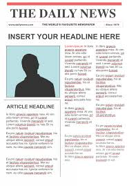 Creating A Newspaper Template Editable Newspaper Template Google Docs Free Download