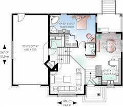 floor plan of a multi level home with a first floor master suite
