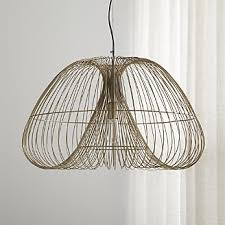 Chandelier pendant lighting Staircase Cosmo Brass Wire Pendant Light Crate And Barrel Pendant Lighting And Chandeliers Crate And Barrel