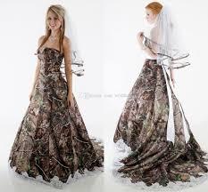 elegant camo wedding dresses strapless appliques fluffy ball gown