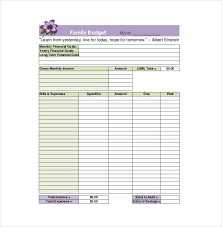 sample household budget family budget template household budget worksheet for excel