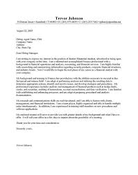Financial Analyst Cover Letter Incredible Ideas Finance Cover Letter