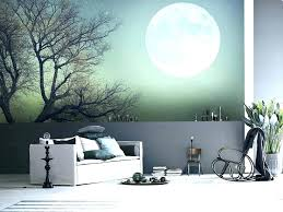 awesome wall murals bedroom mural ideas modern on intended for designs living room mid century decal