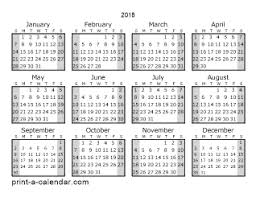 printable calanders download 2018 printable calendars