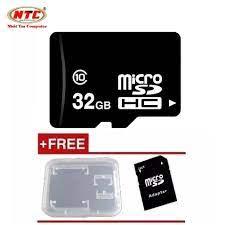 Thẻ nhớ microSDHC NTC 32GB Class 10 (Đen) + Tặng adapter và hộp thẻ giá rẻ  88.000₫