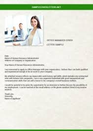 Office Manager Cover Letter. Commercial Manager Cover Letter Sample ...