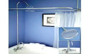 clawfoot tub shower accessories tub shower conversion kit clawfoot tub accessories shower curtains