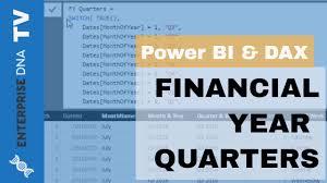 Calendar Year Quarters How To Create Custom Financial Year Quarters Power Bi
