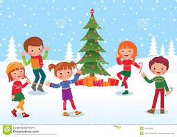 Children Celebrate Christmas And New Year Stock Vector