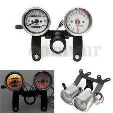 universal speedometer 12v universal motorcycle odometer tachometer speedometer led gauge bracket uk