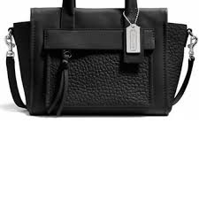 Coach Bleecker Mini Riley Carryall In 27923 Black Leather Satchel - Tradesy