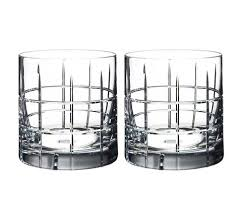 hand cut crystal double old fashioned glasses set of 2 large0