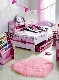 hello kitty kids furniture. adorable hello kitty themed kids bed design with two pullout storages underneath in furniture h