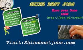Shine Job Posting Job Search Job Opportunities Job Posting Site Find Jobs