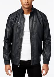 calvin klein men s faux leather er jacket
