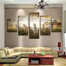modern wall art decor 5 pieces home decor for living room running horse modern wall art on home decor wall art au with modern wall art decor 5 pieces home decor for living room running