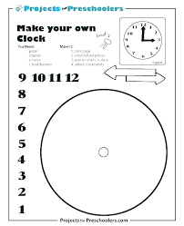 Clock Starter Pack Printable Clock Number Placement Template