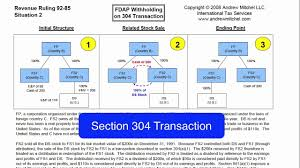 Rev Rul 92 85 Situation 2 Fdap Withholding On A Section 304 Transaction