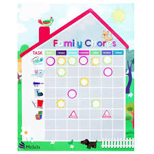 Family Calendar Chore Chart Buy Chore Chart For Kids Teens And Entire Family Magnetic