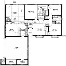 ranch house plan 4 bedrooms 2 bath 1500 sq ft 18 193 cool