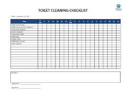 Toilet Cleaning Checklist Templates At Allbusinesstemplates