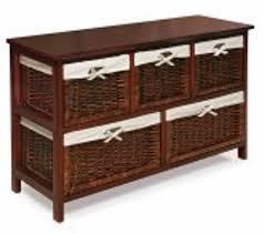 Wicker Basket Cabinet Shelves With Basketsjpg