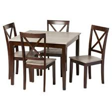 distressed wood dining room set. tilley rustic 5 piece dining set distressed wood room