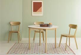 habitat suki 4 seat oak white folding round dining table
