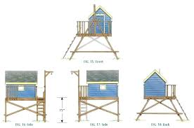 treehouse plans free playhouse wood for one tree