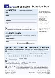 Sample Donation Form Free 4 Charity Donation Forms Pdf