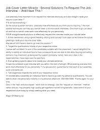 Best Ideas Of Cover Letter Asking For A Job Interview About