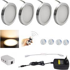 aiboo led under cabinet puck lights downlight spotlights with wireless rf remote control dimmable for furniture lighting in led bulbs s from lights