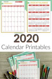 2020 Year At A Glance Calendar Template Free Printable 2020 Calendars Love Our Real Life