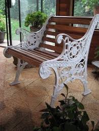 white iron garden furniture. beautiful garden old rusty bench redorepaint cast iron white then add and white iron garden furniture